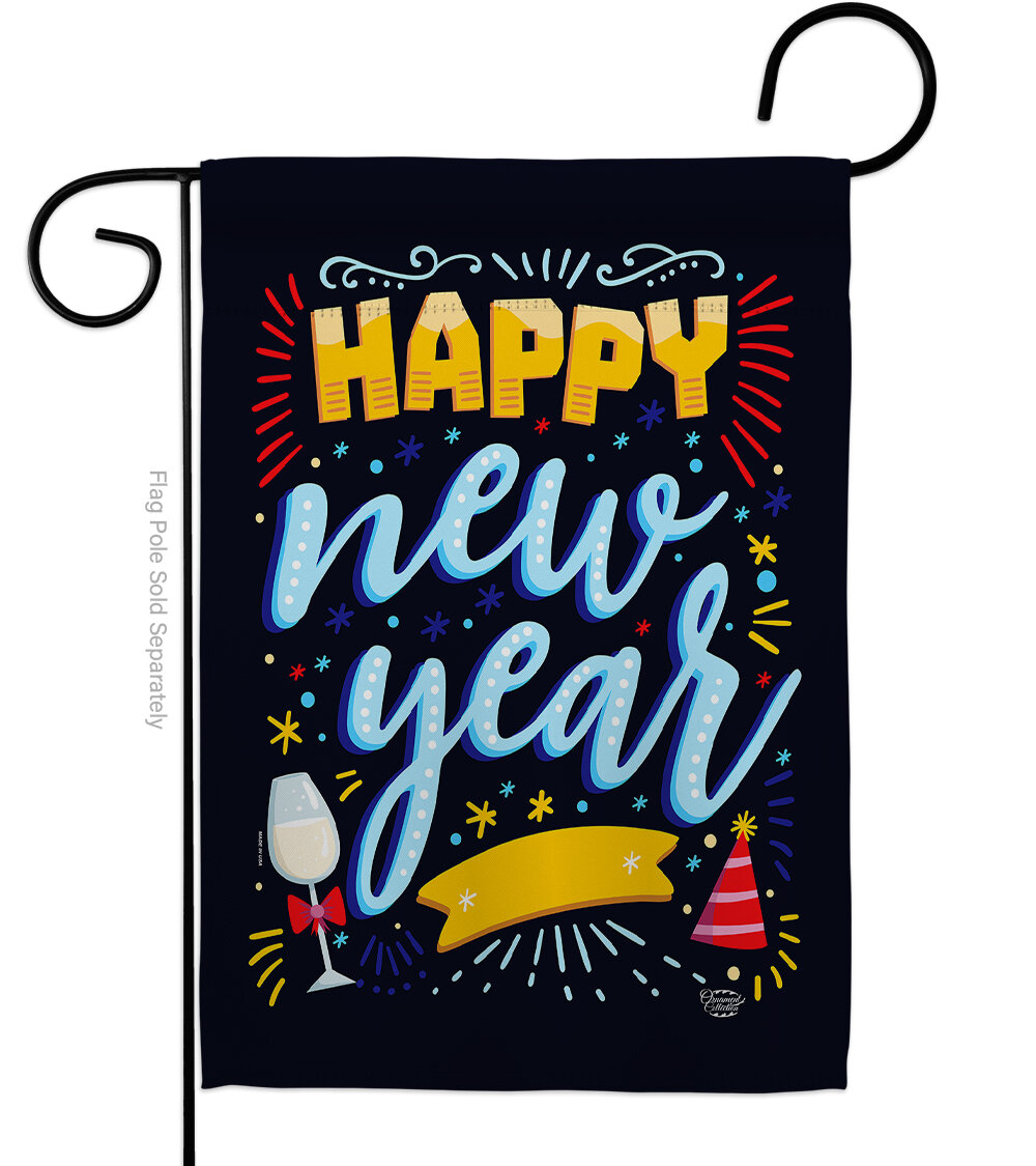Ornament Collection It New Year Impressions Decorative 2 Sided Polyester 19 X 13 In Garden Flag Wayfair