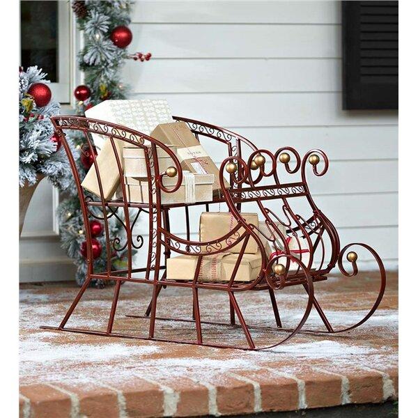 large metal christmas sleigh wayfair