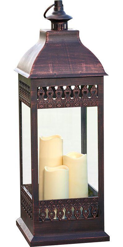 Pinckneyville Triple LED Candle Glass Lantern