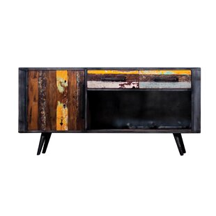 Ainez Recyc Boat Solid Wood TV Stand For TVs Up To 65