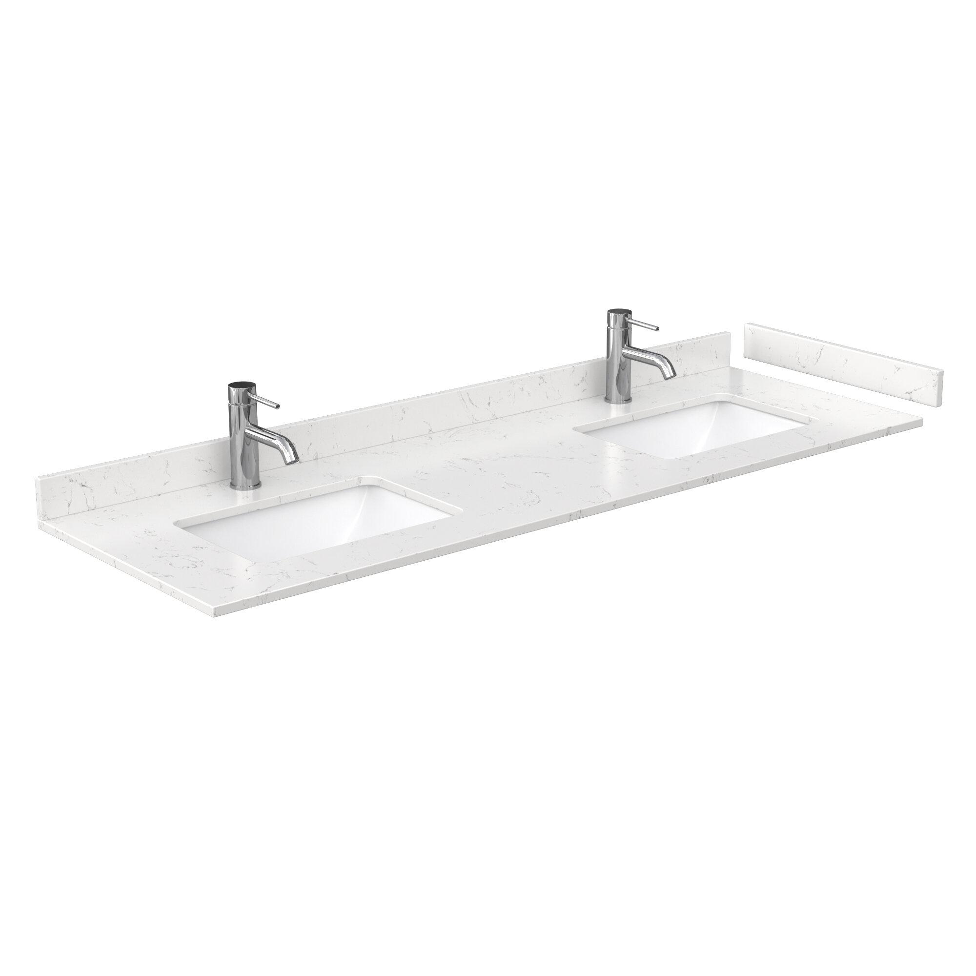 Wyndham Collection 66 Double Bathroom Vanity Top With Sink Wayfair