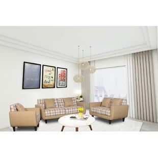 Jax 3 Piece Living Room Set by Millwood Pines