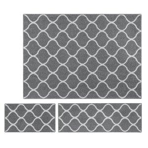 Carissa 3 Piece Gray Area Rug Set
