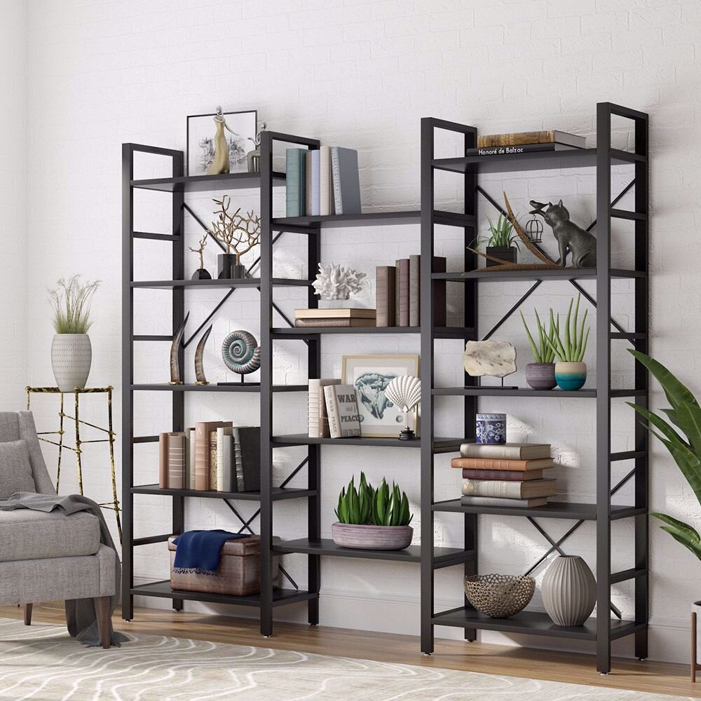 17 Stories 69 H X 70 86 W Steel Etagere Bookcase Reviews Wayfair