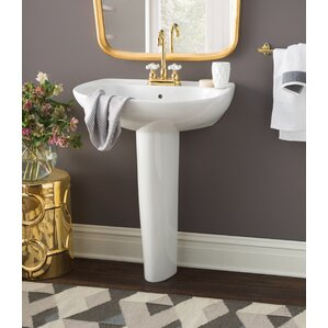 pedestal bathroom sinks. Prominence Vitreous China 26  Pedestal Bathroom Sink with Overflow Sinks You ll Love