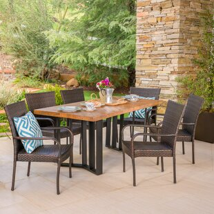 Ivy Bronx Outdoor 7 Piece Dining Set
