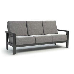 Gagnon Patio Sofa with Sunbrella Cushions by Breakwater Bay