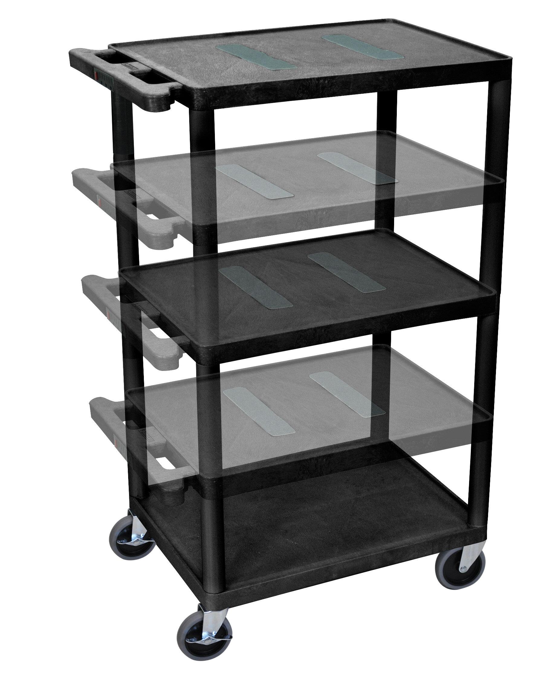 Offex Endura Multi Height 5 Shelf Av Cart Wayfair