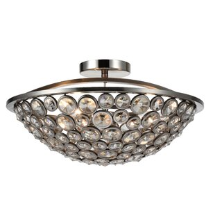 CWI Lighting Wallula 3-Light Semi Flush Mount