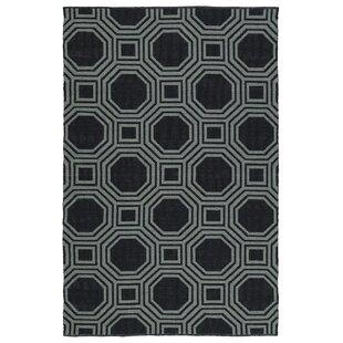 Littleton Black/Gray Indoor/Outdoor Area Rug ByWrought Studio