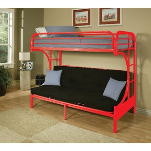 Marshfield Twin Over Full Futon Bunk Bed by Zoomie Kids