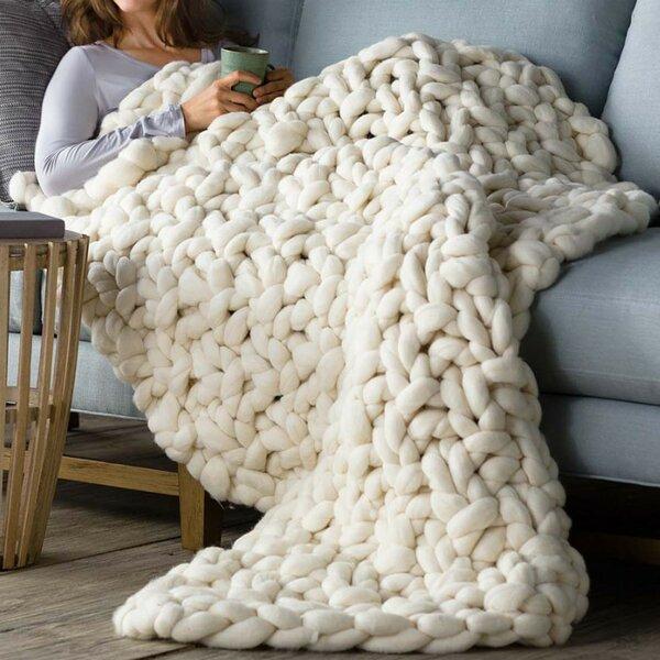Chunky Knit Blankets You Ll Love Wayfair