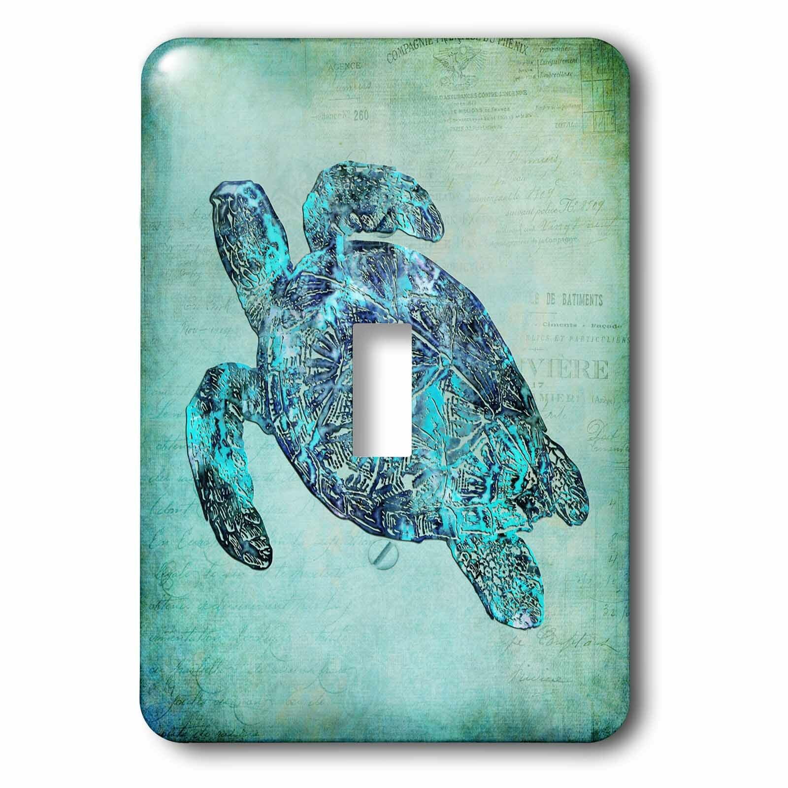 3drose Sea Turtle 1 Gang Toggle Light Switch Wall Plate Wayfair