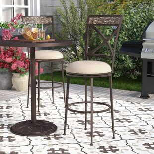 Howland 30 Swivel Indoor/Outdoor Patio Bar Stool Red Barrel Studio