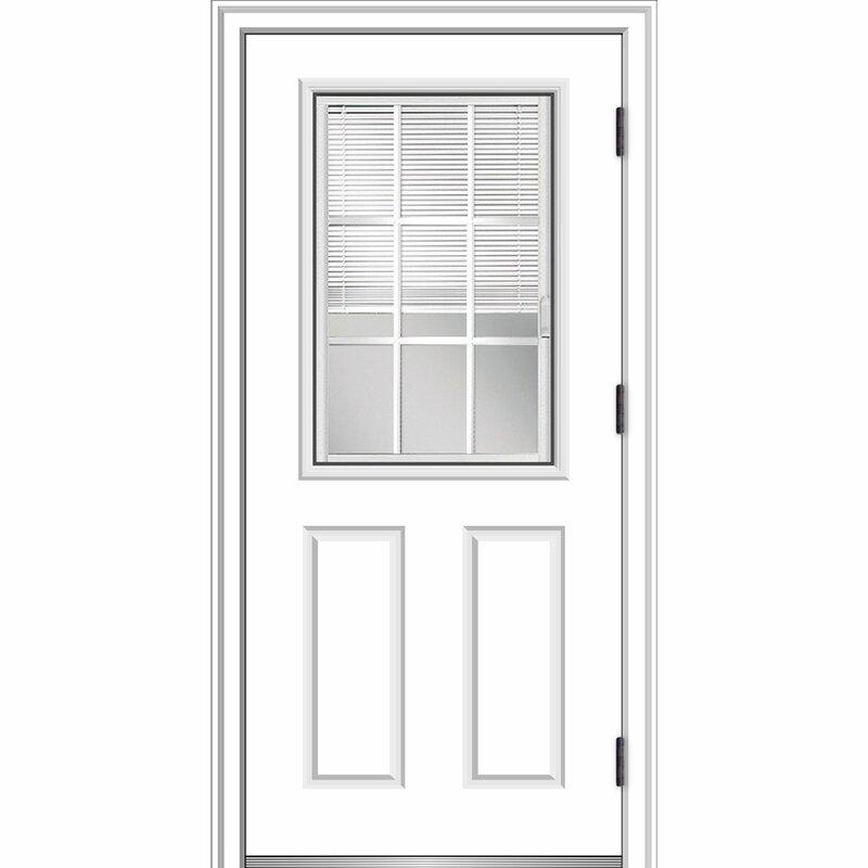 Verona Home Design Smooth Primed Fiberglass Prehung Front Entry Door