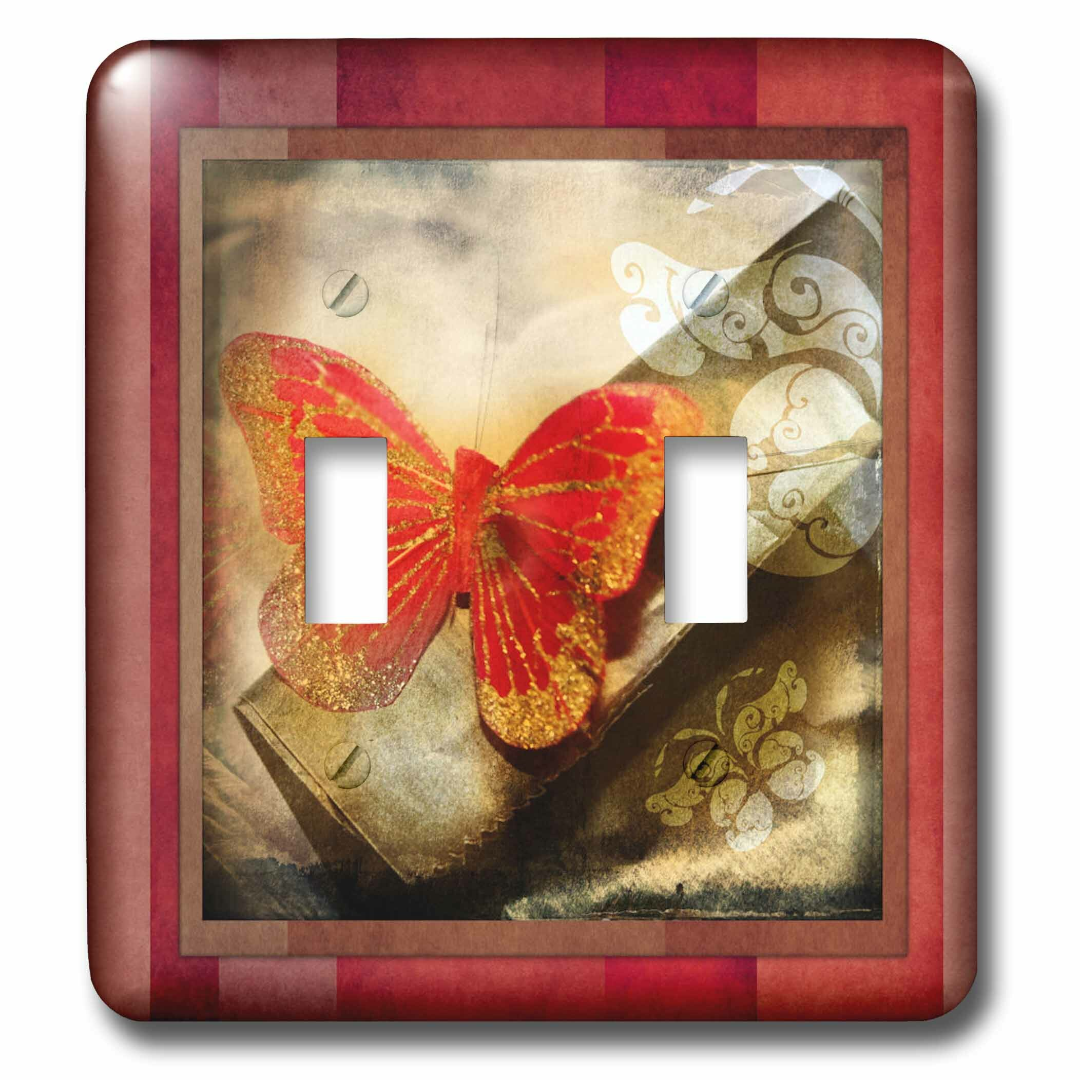 3drose Grunge Butterfly Double Toggle Light Switch Wayfair