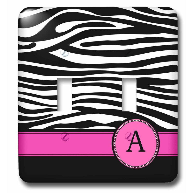 3drose Letter Monogrammed Zebra Stripes Animal Print With Personalized Initial 2 Gang Toggle Light Switch Wall Plate Wayfair