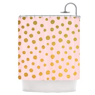 Golden Dots Single Shower Curtain