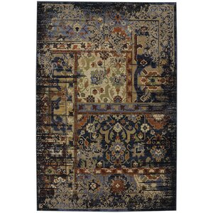 Brookes Black Area Rug