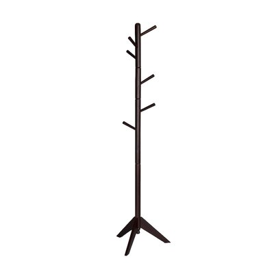 Union Rustic Poynter Contemporary Style Hall Tree Coat Rack Color: Dark Brown