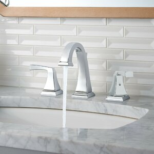 Dryden� Deck Mounted Double Handle Bathroom Faucet with Drain Assembly and Diamond Seal Technology