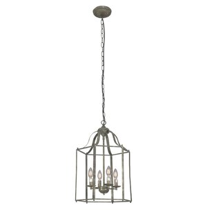 Odum 4-Light Lantern Chandelier by Charlt..