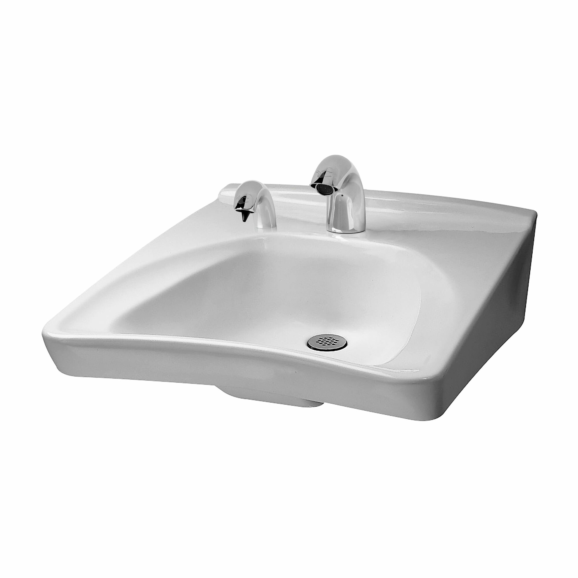Toto Commercial Vitreous China 27 Wall Mount Bathroom Sink With Overflow Wayfair