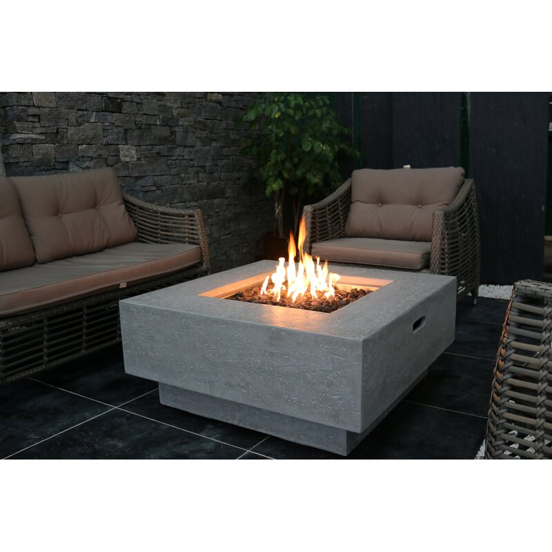 Phenomenal Manhattan Concrete Propane Natural Gas Fire Pit Table Download Free Architecture Designs Pushbritishbridgeorg