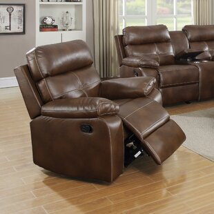 Kissner Exuberantly Designed Leather Recliner Alcott Hill