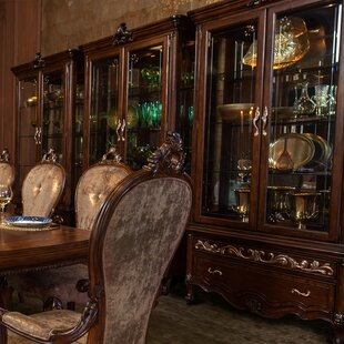 Michael Amini (AICO) Platine De Royale Lighted Curio Cabinet