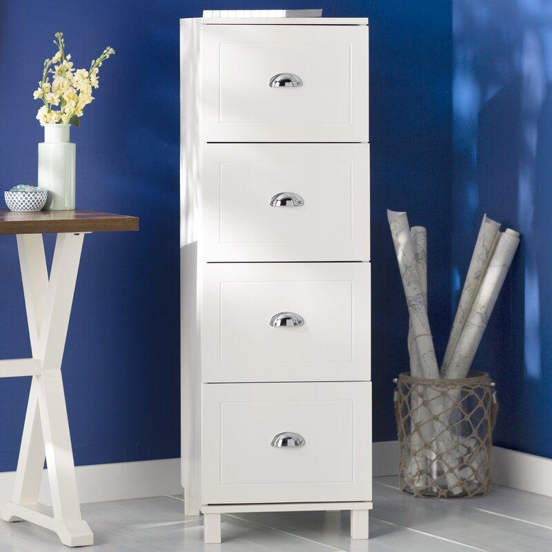 Beachcrest Home Orange City 4 Drawer Filing Cabinet & Reviews ...