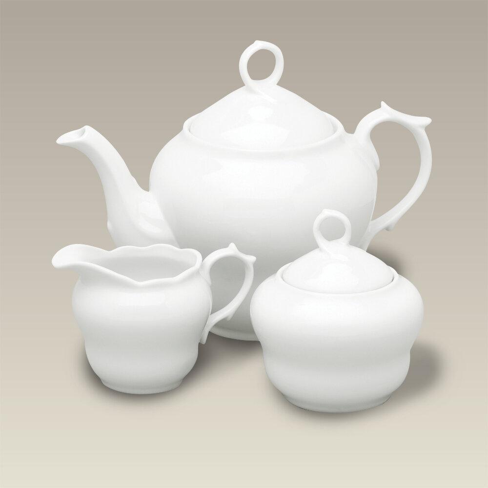 Canora Grey Stutler 3 Piece 36 Oz Porcelain Teapot Set Wayfair