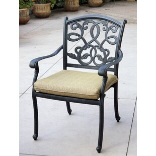 Windley Stacking Patio Dining Chair with Cushion