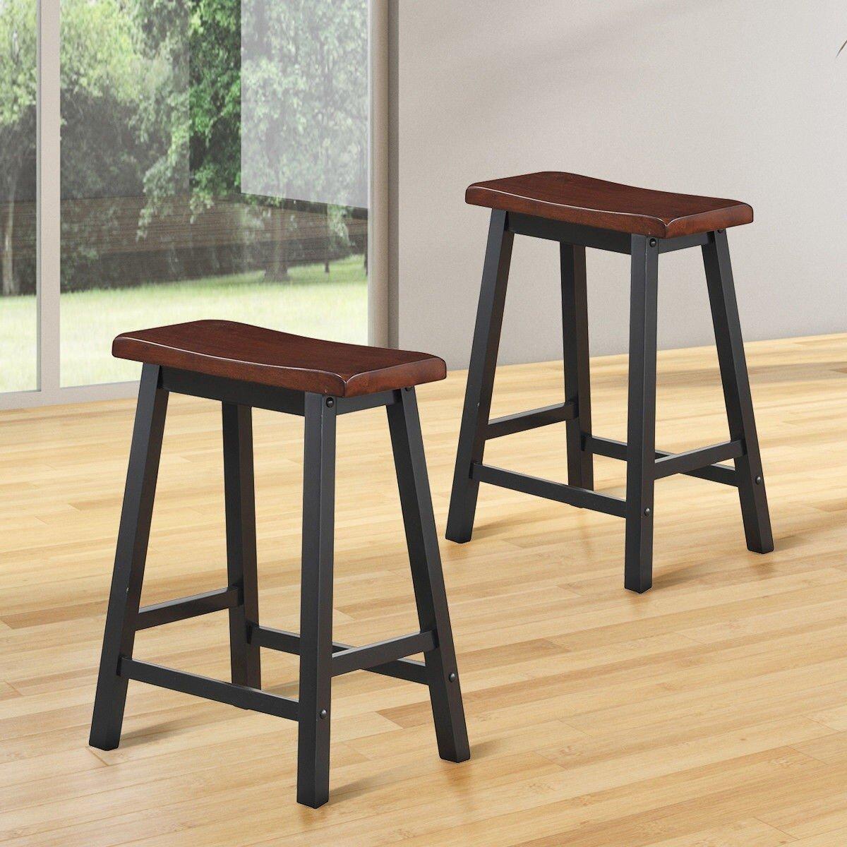 Red Barrel Studio Aniceta Solid Wood 24 Counter Stool Wayfair