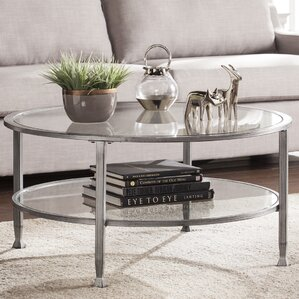 Delightful Casas Metal And Glass Round Coffee Table
