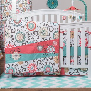 Trend Pom Pom Play 4 Piece Crib Bedding Set By Trend Lab