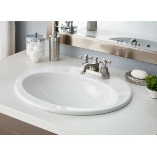 Cheviot Products Aria Vitreous China Oval Drop-In Bathroom Sink with Overflow