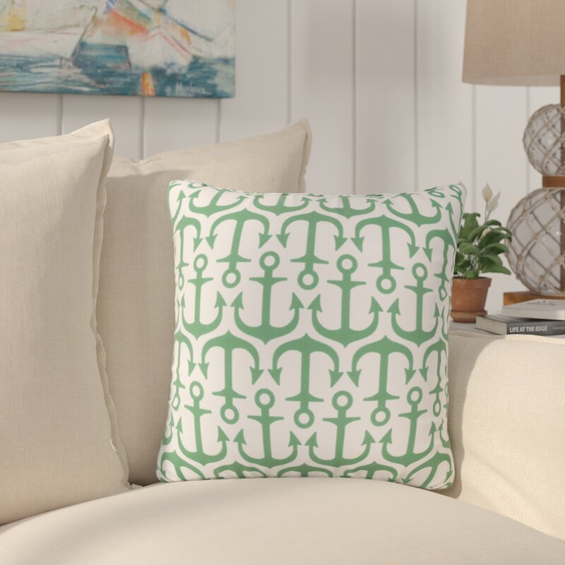 Beachcrest Home Sweetwood Traditional Anchor Indoor Outdoor Throw Pillow Reviews Wayfair