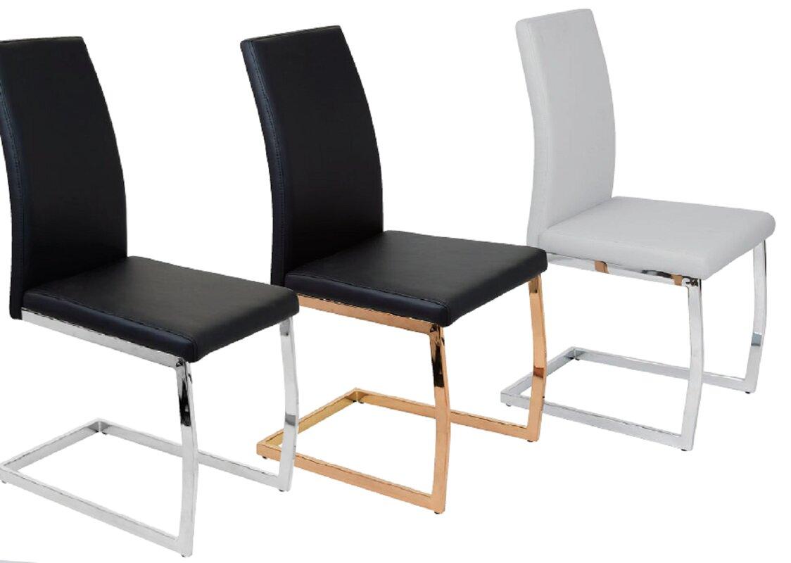 Mercer41 Schall Upholstered Side Chair (Set of 3)