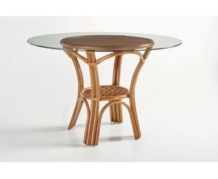 Strachan  Glass Dining Table by Bay Isle ..