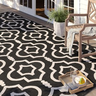 Larson Black/Beige Indoor/Outdoor Area Rug