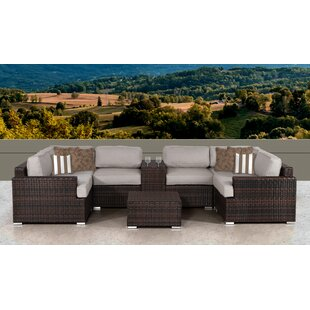 Bayou Breeze Archie 8 Piece Sectional Set with Cushions