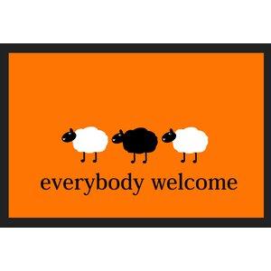 Everybody Welcome Deco Wash Doormat