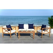 Dolores 4 Piece Lounge Seating Group with Cushion