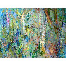 'Abstract Woodland' by Angelo Franco Painting Print on Wrapped Canvas