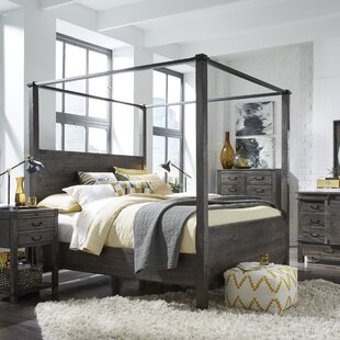 Wilda Panel Headboard and Footboard and Slats with Canopies by Birch Lane™ Heritage