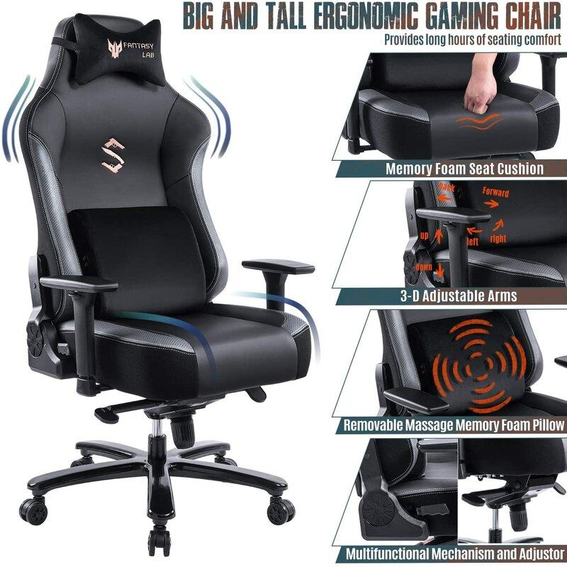 FANTASYLAB Big and Tall Ergonomic Gaming Chair | Wayfair