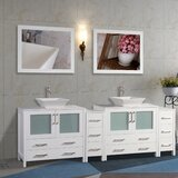 Karson Framed 96 Double Bathroom Vanity Set with Mirror by Wade Logan®
