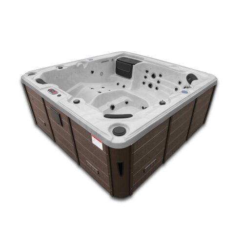 Toronto 6-Person 44-Jet Spa with LED Lighting and Waterfall Canadian Spa Co