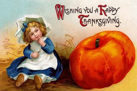 'Wishing You a Happy Thanksgiving' Vintage Advertisement